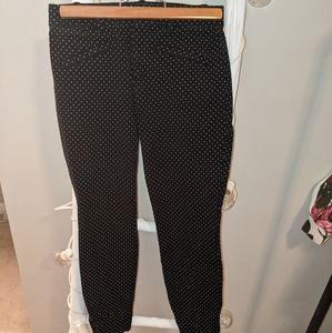 Gap black/white polka dot skinny ankle pants